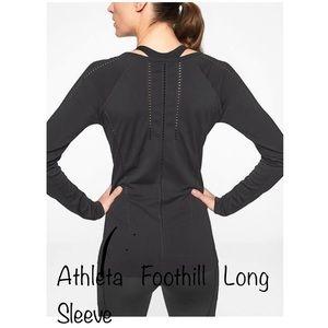 Athleta Black Foothill long sleeve athletic top
